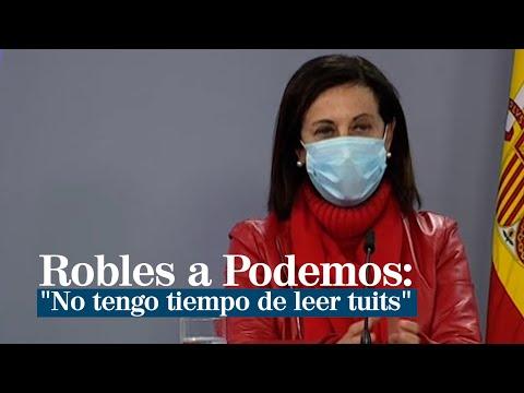 Margarita Robles a Podemos: «No tengo tiempo de leer tuits»