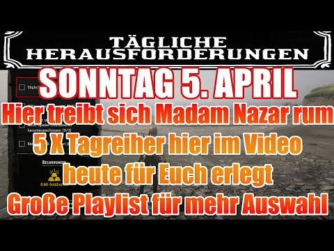 Sonntag 5. April Täglichen Herausforderung Dailys Nazar Red Dead Redemption 2 Online