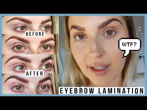 TRYING BROW LAMINATION & omg wow... ? first impression, cost, results & more!