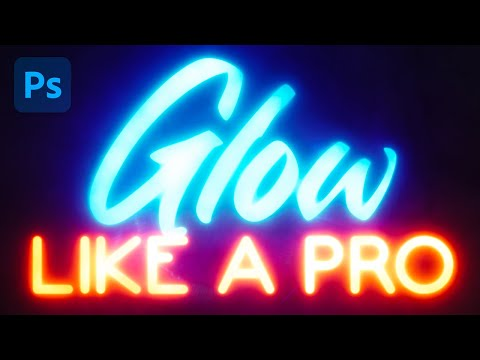Photoshop 2021 Glowing Text Effect