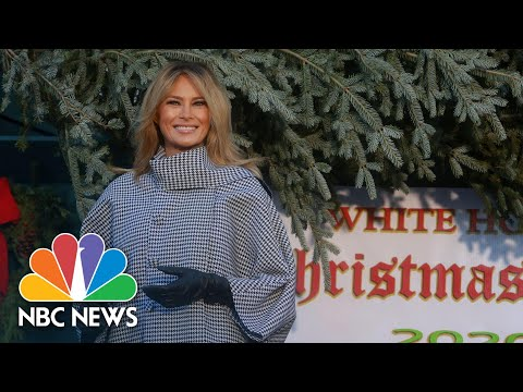 First Lady Melania Trump Receives White House Christmas Tree | NBC News NOW