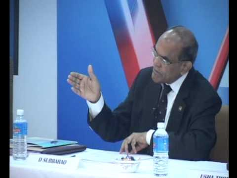 D Subbarao on Emerging Trends in Economy