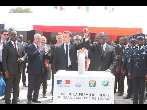 Visite du Président Emmanuel MACRON à Bouaké