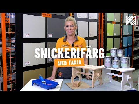 Snickerifärg med Tanja