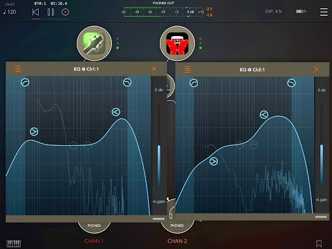 PARAMETRIC EQUALIZER - Now UPDATED With SPECTRUM GRAPH - iPad Demo