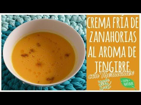 Crema fria de zanahorias al aroma de jengibre