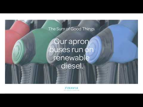 Did you know, that when you ride a bus from the terminal to the aircraft at Helsinki Airport, there are waste and residues in the fuel tank? This is one of the details that enable Finavia airpots to be carbon neutral - these details add up to The Sum of Good Things.