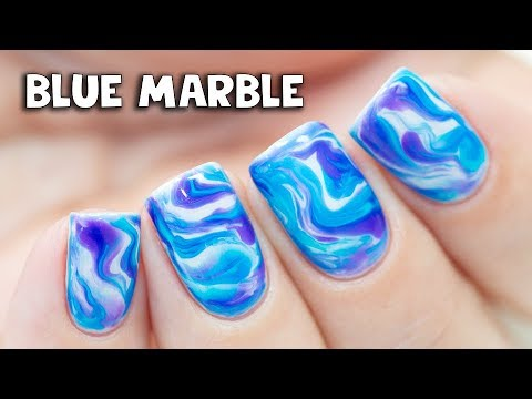 Simple Marble Nail Art for Short Nails