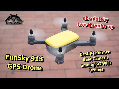 FUNSKY 913 GPS 5G WiFi FPV1080P Camera Brushless RC Quadcopter - UCsFctXdFnbeoKpLefdEloEQ