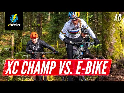 Can We Beat A World Champion? | EMBN Vs Pauline Ferrand-Prevot