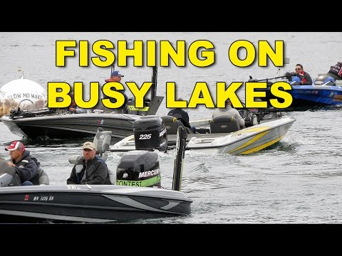 Fishing On Busy Lakes and Rivers | Bass Fishing