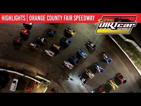 Super DIRTcar Series Big Block Modifieds Orange County Fair Speedway August 12, 2021   HIGHLIGHTS - dirt track racing video image