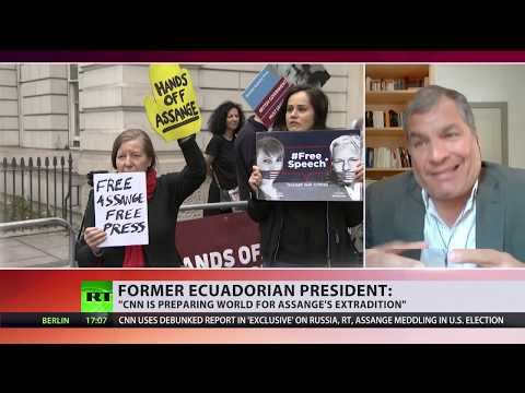 Ex-Ecuadorian president: CNN is preparing world for Assange's extradition