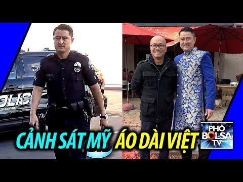 Cảnh sát Mỹ diện áo dài Việt ngày mùng một Tết