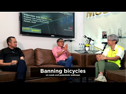 Bicycle license? Ban bicycles from footpaths? Why are cyclists targeted? | Facebook Live 22042021