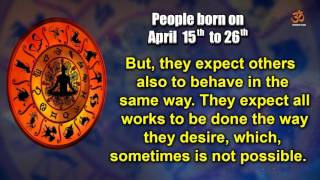 Basic Characteristics of people born between April 15th to April 26th