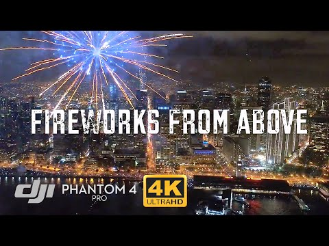 San Francisco NYE Fireworks from Drone / DJI Phantom 4 Pro [4K]