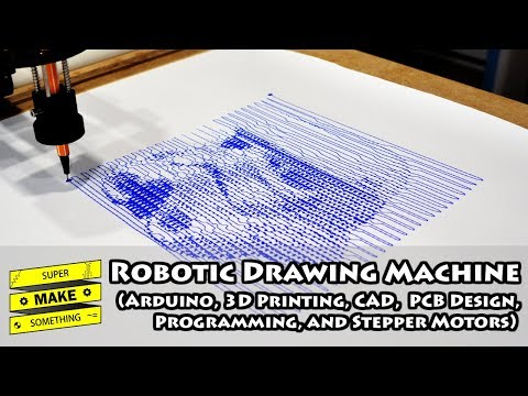 Robotic Drawing Machine (Arduino, 3D Printing, CAD, PCB Design, Programming, Stepper Motors) - UCuvVGwgd5JY40lf_99og7ow