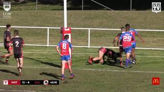 2019 IDRl Reserve Grade Round 11 Highlights - Western Suburbs vs Collegians