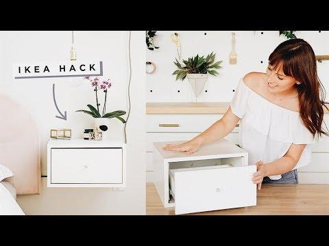 Floating Nightstands Ikea Hack!