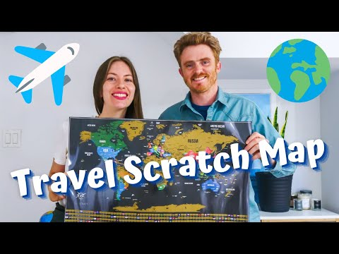 Our TRAVEL SCRATCH MAP of the World 🌎   How Many COUNTRIES Have We Travelled To as a Couple?! 🧐