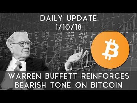 Daily Update (1/10/2018) | Warren Buffett reaffirms his bearish views on crypto
