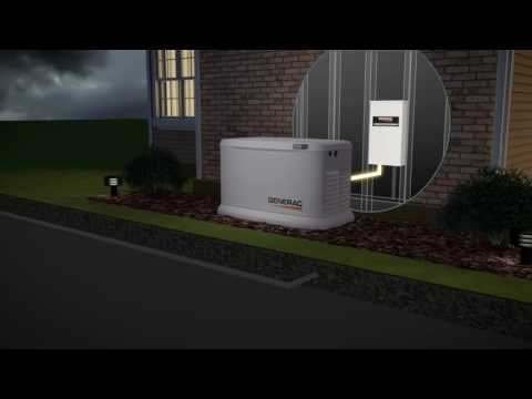 Generac Guardian Series Air-Cooled Standby Generator - 9 kW (LP)/8 kW (NG), 100 Amp Transfer Switch,