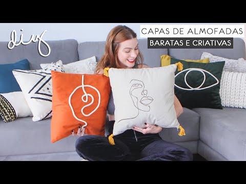 DIY Crie Almofadas Lindas, Gastando Pouco!   Decorando a Sala 03