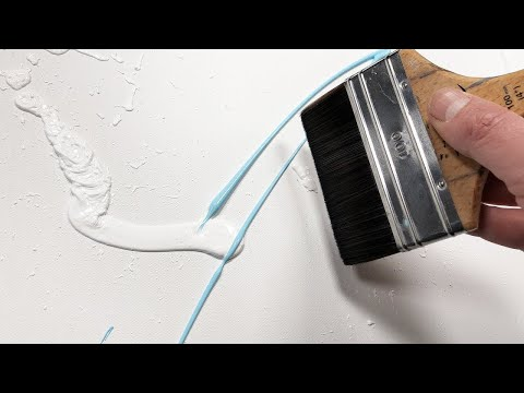 Abstract Painting demonstration with Acrylic and masking tape | Greco