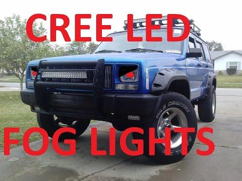 JEEP CHEROKEE XJ CREE LED FOG LIGHTS AND BUMPER PLASTICS - default