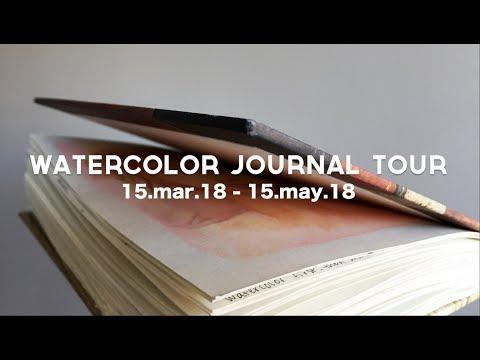 watercolor art journal tour may 2018