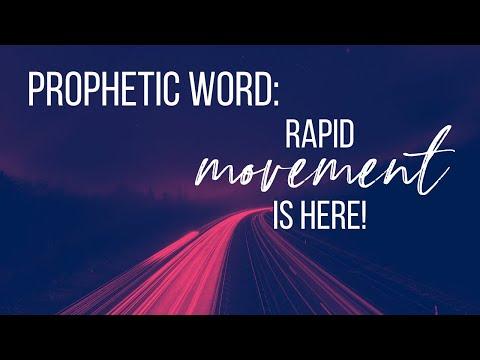 SPOKEN PROPHETIC WORD // RAPID MOVEMENT IS HERE!
