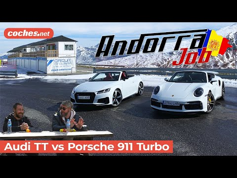 Andorra Job   Audi TTS Roadster vs Porsche 911 Turbo S Cabriolet   Prueba en español   coches.net