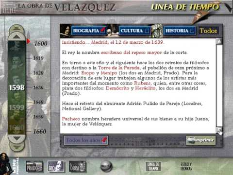 El Museo Virtual: La Obra de Velázquez (Biografía e historia) (Dinamic) (Windows 3.x) [1996]