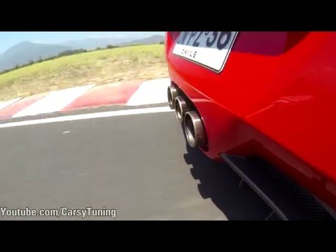 Ferrari 458 Italia - Flat Out Exhaust Notes w/ GoPro
