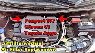 Cambiare filtro aria Peugeot 107