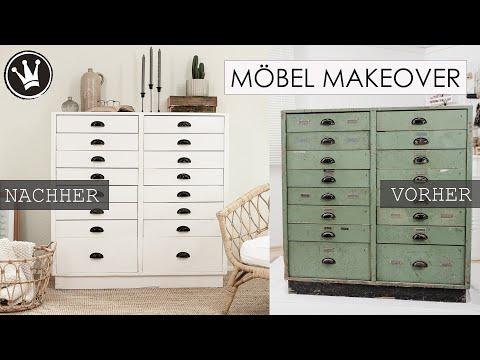 DIY – MÖBEL STREICHEN | alten Schrank mit KREIDEFARBE streichen | Wohnzimmer MAKEOVER DekoideenReich