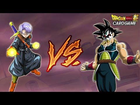 The Masked Saiyan vs Xeno Trunks Dragon Ball Super Card Game Battle!