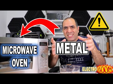 METAL in MICROWAVE Oven Is NOT That Dangerous