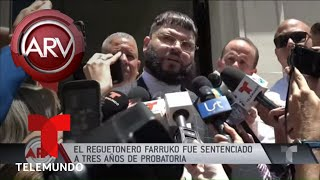 Farruko fue sentenciado a tres años de probatoria | Al Rojo Vivo | Telemundo