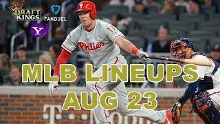 MLB DFS Lineups - Fri 8/23 - Four Corners - DraftKings, FanDuel, Yahoo - Awesemo.com
