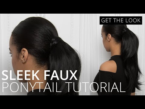 feelunique.com & Feel Unique Promo Code video: Sleek Faux Ponytail | How To| Feelunique