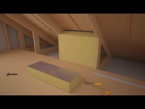 Ventilerad snedtakslösning med ISOVER Takstolsskiva 32 Alu