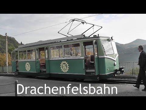 GERMANY: Drachenfels Railway, Königswinter [HD]