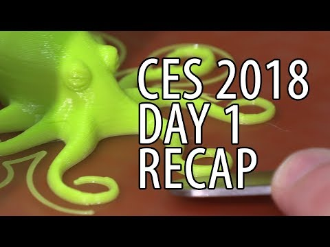 CES 2018 Day 1 Recap For Me PLUS Lulzbot Mini Winners Announced!