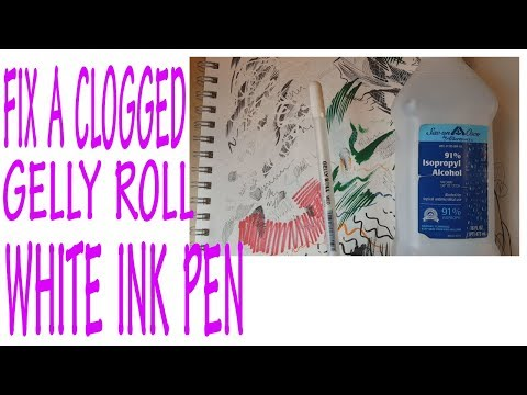 Gelly Roll Pen clogged?  Hack that works to get it FLOWING!  Cheap and EASY - UC7LX4yIzUWcvb1u8tdR3E2g