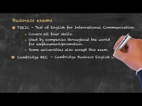 Evaluation and Testing of Students - Business English Exams