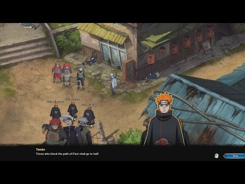 Naruto English Online MMO Walkthrough Part 41 - Kakashi vs Pain Boss Fight Mission Gameplay 1080p - default