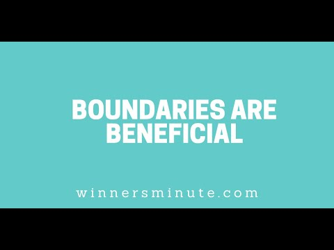 Boundaries Are Beneficial // The Winner's Minute With Mac Hammond
