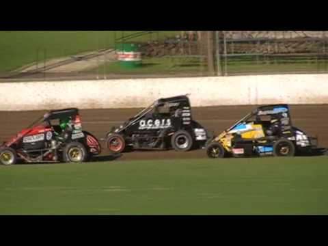 World Midget Championship - Round 3 - A-Main - Lismore Speedway - 28.01.17 - dirt track racing video image